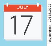 july 17. calendar icon. vector... | Shutterstock .eps vector #1056510122
