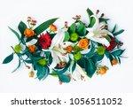 a beautiful floral arrangement... | Shutterstock . vector #1056511052
