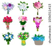 beautifully assembled bouquets... | Shutterstock .eps vector #1056511415