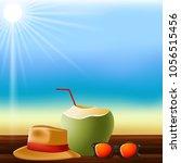 summer time vector banner... | Shutterstock .eps vector #1056515456