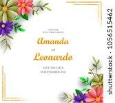 vintage wedding invitation... | Shutterstock .eps vector #1056515462