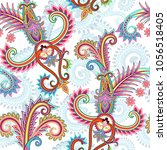 seamless contrast pattern with... | Shutterstock .eps vector #1056518405