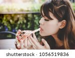 pizza look so yummy or... | Shutterstock . vector #1056519836