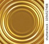 golden liquid rippled vector... | Shutterstock .eps vector #1056527408