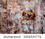 corroded white metal background.... | Shutterstock . vector #1056531776