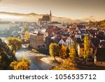 panoramic view of the historic... | Shutterstock . vector #1056535712