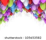 balloons isolated on white | Shutterstock . vector #105653582