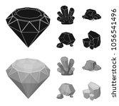crystals  iron ore. precious... | Shutterstock .eps vector #1056541496