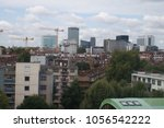 Small photo of LONDON, ENGLAND – SEPTEMBER 6, 2015: A shot of constructions work through a hotel window in the center of London city, England on September 6, 2015.