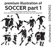 premium illustration soccer... | Shutterstock .eps vector #105654302