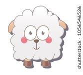 cute square sheep. vector...