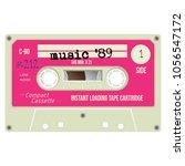 old school compact cassette... | Shutterstock .eps vector #1056547172