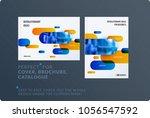 creative minimal design of... | Shutterstock .eps vector #1056547592