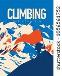 extreme outdoor adventure... | Shutterstock .eps vector #1056561752