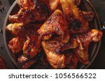 Barbecued Chicken Wings With...