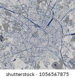 vector map of the city of milan ... | Shutterstock .eps vector #1056567875