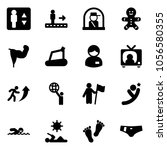 solid vector icon set  ... | Shutterstock .eps vector #1056580355