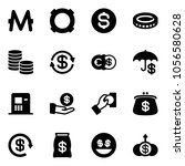 solid vector icon set   monero...   Shutterstock .eps vector #1056580628