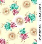 seamless floral texture design | Shutterstock . vector #1056583046