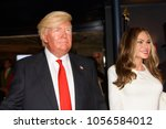 Small photo of MADRID, SPAIN - MAR 28, 2018: Donald Trump, the 45 th president of the United States of America and his wife Melania, Wax Museum, Madrid