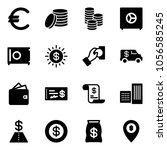 solid vector icon set   euro... | Shutterstock .eps vector #1056585245