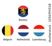 benelux union  luxembourg ... | Shutterstock .eps vector #1056594518