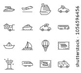 thin line icon set   home... | Shutterstock .eps vector #1056596456
