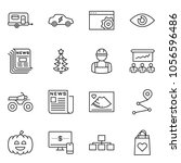 thin line icon set   monitor... | Shutterstock .eps vector #1056596486