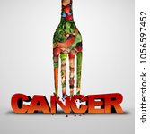 cancer prevention and killing... | Shutterstock . vector #1056597452