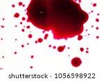 realistic bloody splatters....   Shutterstock . vector #1056598922