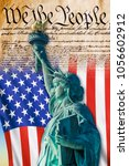 we the people with american...   Shutterstock . vector #1056602912