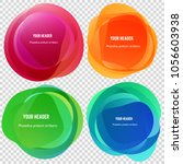 abstract blur shapes color... | Shutterstock .eps vector #1056603938