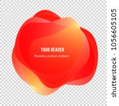 abstract blur shapes color... | Shutterstock .eps vector #1056605105