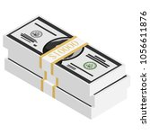 vector packages of banknotes ....   Shutterstock .eps vector #1056611876