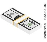 vector packages of banknotes ....   Shutterstock .eps vector #1056611882