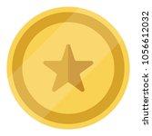 vector golden coin with star... | Shutterstock .eps vector #1056612032
