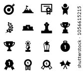 solid vector icon set   target... | Shutterstock .eps vector #1056615215