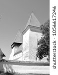 Small photo of Fortified medieval saxon church in the village Merghindeal- Mergenthal, Transylvania,Romania The settlement was for the first time certified in 1336