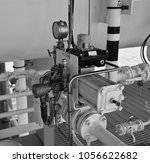 manual operate ball valve at... | Shutterstock . vector #1056622682
