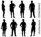 set black silhouette man... | Shutterstock .eps vector #1056638462