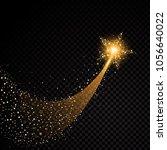 gold glittering spiral star... | Shutterstock .eps vector #1056640022
