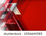 abstract tech background with... | Shutterstock .eps vector #1056644585