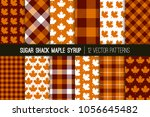 sugar shack maple syrup tartan... | Shutterstock .eps vector #1056645482