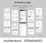 10 in 1 ui kits. wireframes... | Shutterstock .eps vector #1056656402