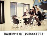 startup business team on... | Shutterstock . vector #1056665795