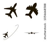 airplane icons set. airplane...   Shutterstock .eps vector #1056668588