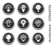light bulb buttons | Shutterstock .eps vector #105666926