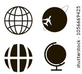 globe icons set. globe icons... | Shutterstock .eps vector #1056669425