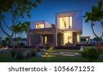 3d rendering of modern cozy... | Shutterstock . vector #1056671252