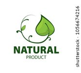 natural product logo design... | Shutterstock .eps vector #1056674216